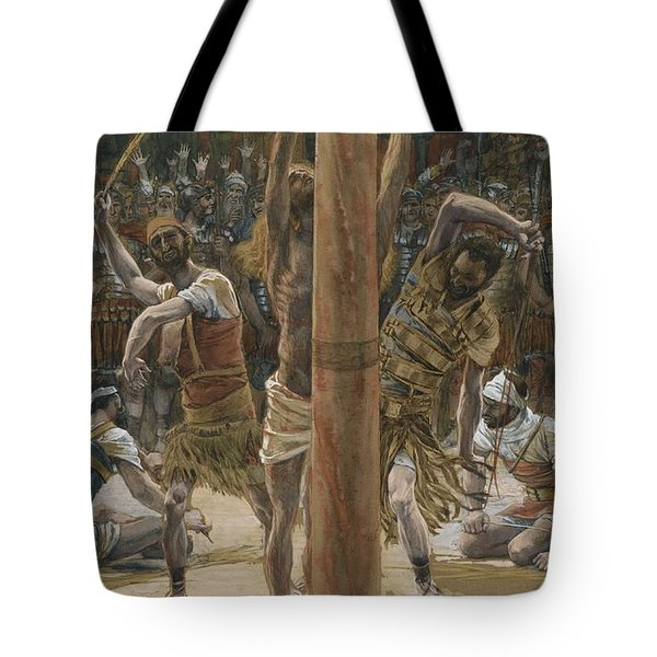 The Scourging On The Back Tote Bag by Tissot