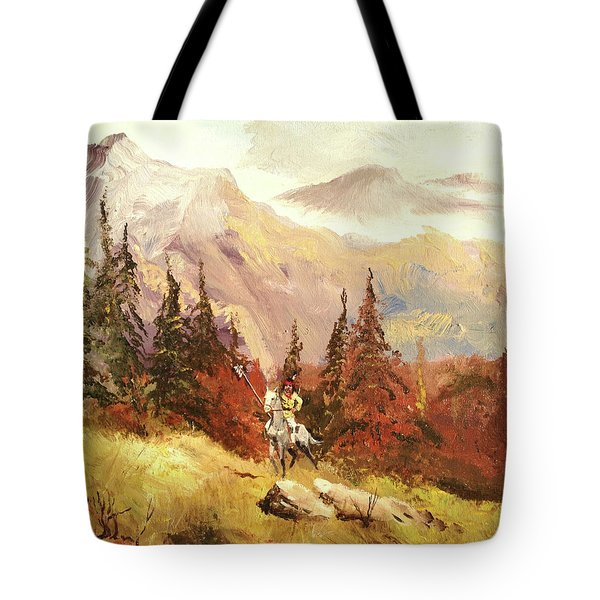 Tote Bag featuring the painting The Scout by Alan Lakin