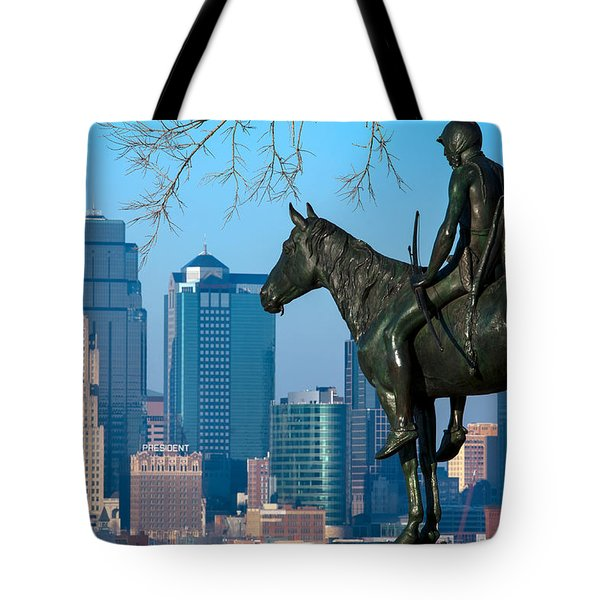 The Scout Statue Tote Bag