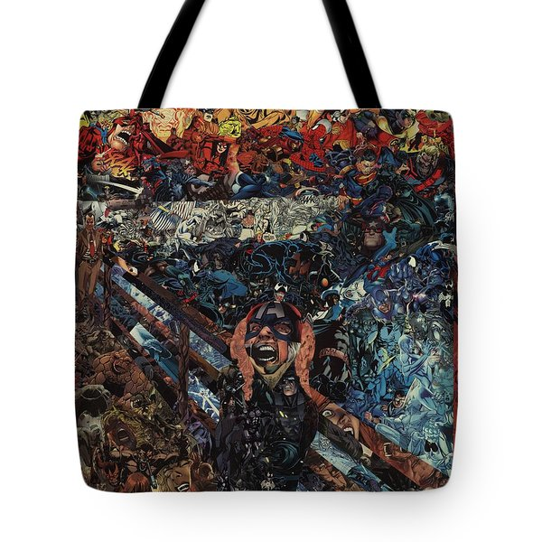Tote Bag featuring the mixed media The Scream After Edvard Munch by Joshua Redman