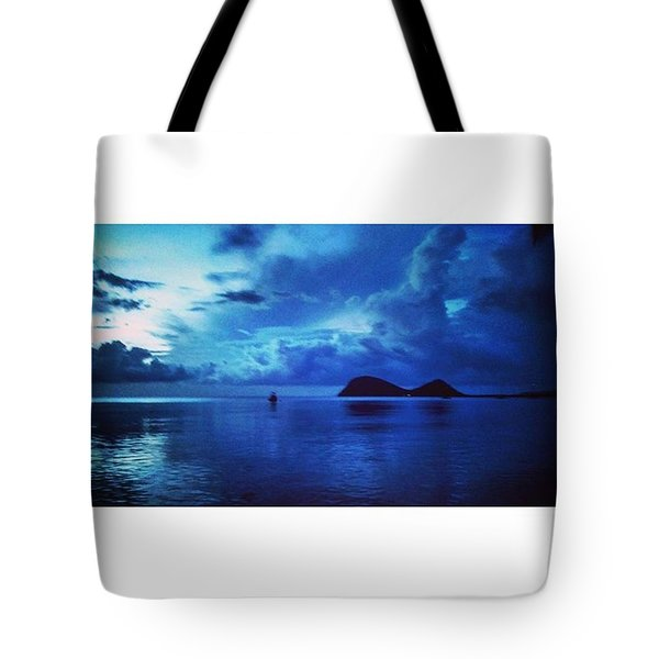 Calming Blues Tote Bag by Vicki Giannakopoulos