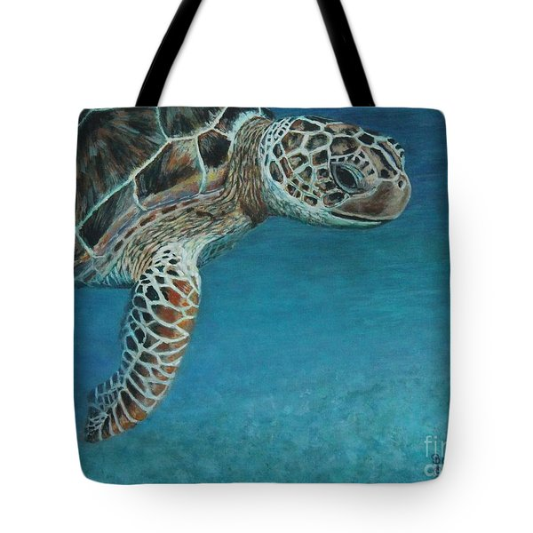 The Giant Sea Turtle Tote Bag
