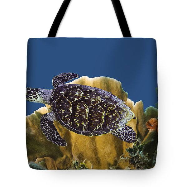 Tote Bag featuring the photograph The Sea Turtle by Paula Porterfield-Izzo
