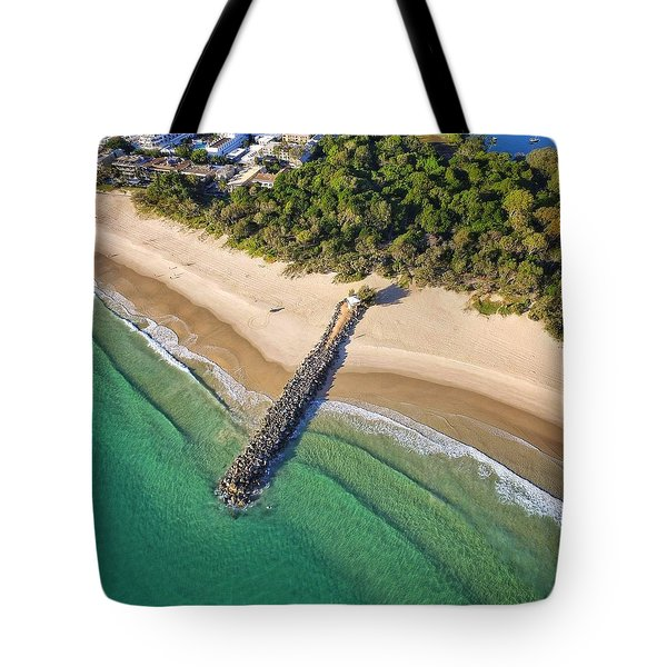 The Sea Wall Near Noosa Main Beach Tote Bag