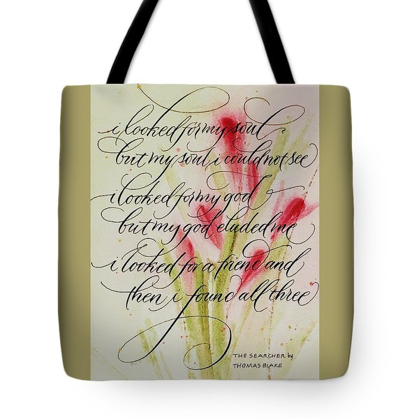 The Searcher By Thomas Blake Tote Bag