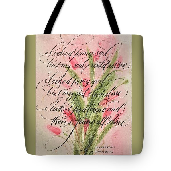 The Searcher II By Thomas Blake Tote Bag