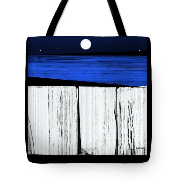 The Seawalls No.4 Full Moon Rising Tote Bag