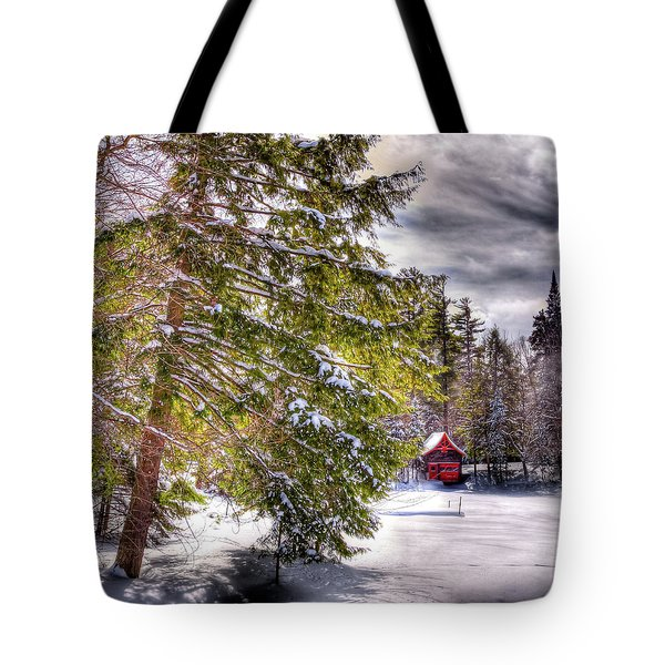 Tote Bag featuring the photograph The Secluded Boathouse by David Patterson