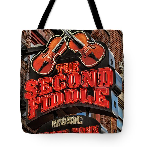 Tote Bag featuring the photograph The Second Fiddle Nashville by Stephen Stookey