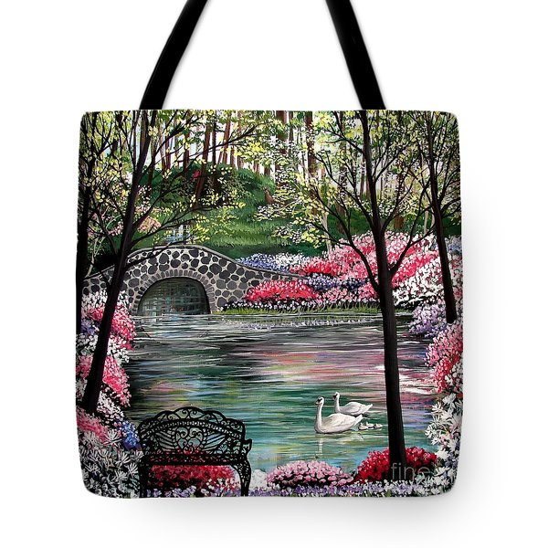 The Secret Azalea Garden Tote Bag