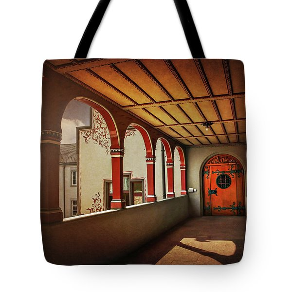 Tote Bag featuring the photograph The Secret Door In Basel Switzerland  by Carol Japp