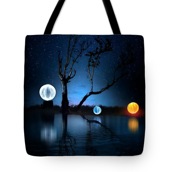 The Secret Of Orb Island Tote Bag by Mark Andrew Thomas