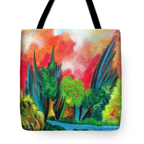 The Secret Stream Tote Bag by Elizabeth Fontaine-Barr