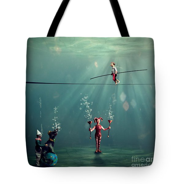 The Secret Venetian Circus Tote Bag by Martine Roch