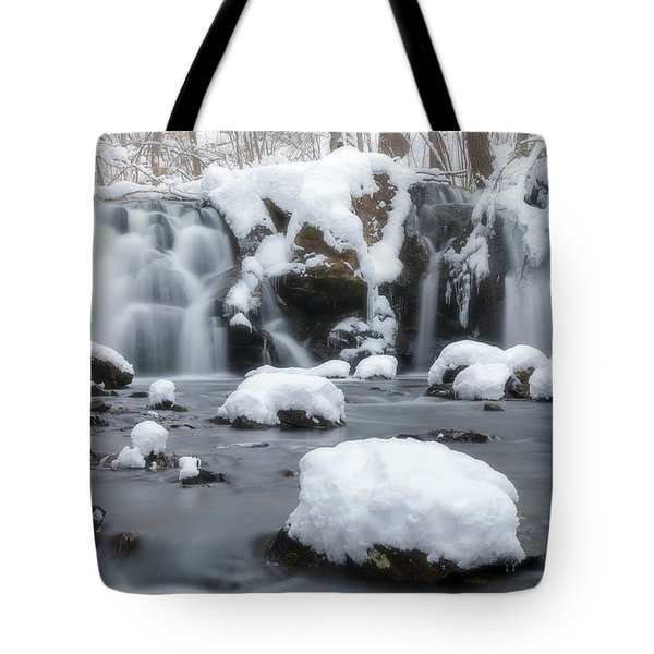 The Secret Waterfall In Winter 1 Tote Bag