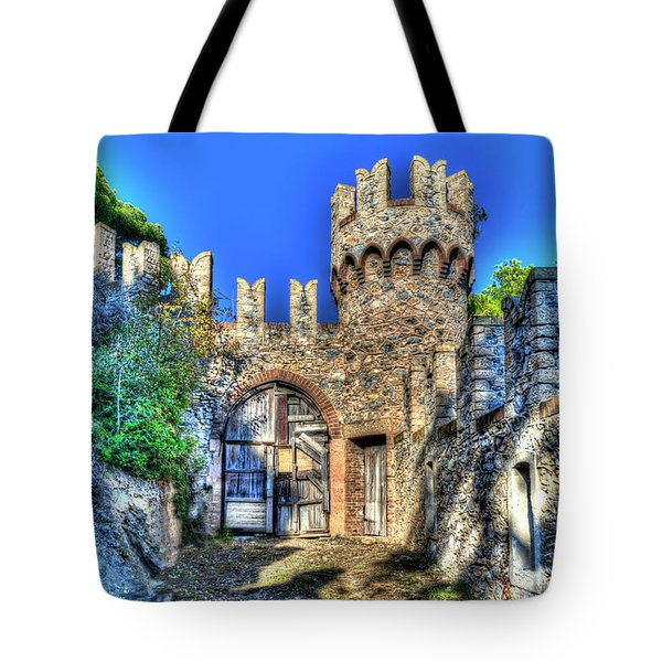 Tote Bag featuring the photograph The Senator Castle - Il Castello Del Senatore by Enrico Pelos