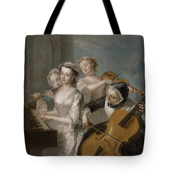 The Sense Of Hearing Tote Bag by Philippe Mercier
