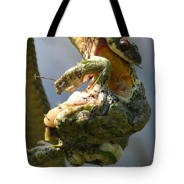 The Serpent And The Frog Tote Bag
