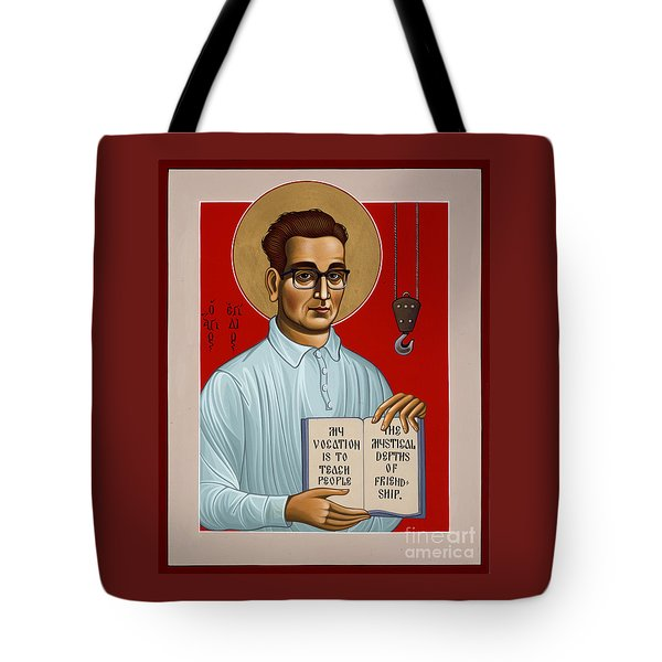 Tote Bag featuring the painting The Servant Of God Egide Van Broeckhoven Sj 051 by William Hart McNichols