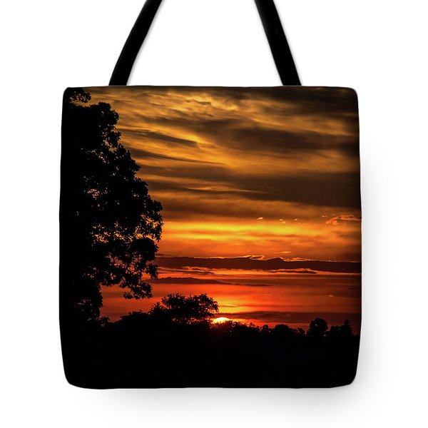 Tote Bag featuring the photograph The Setting Sun by Mark Dodd