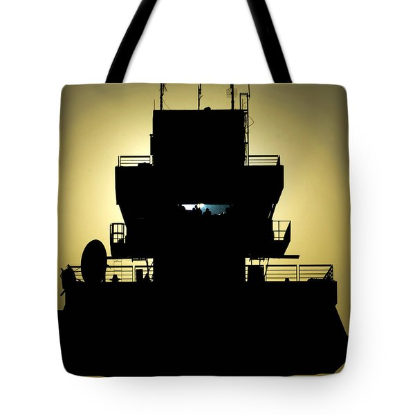 The Setting Sun Silhouettes An Air Tote Bag by Stocktrek Images