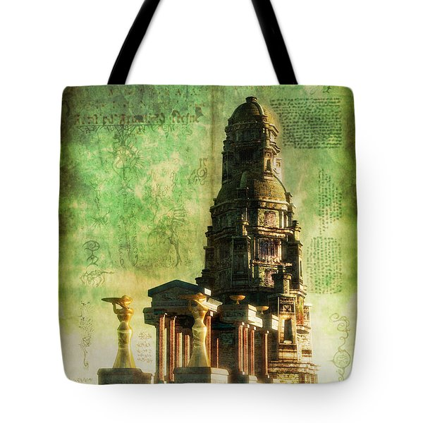 The Seven Cryptical Books Of Hsan Tote Bag by Luca Oleastri