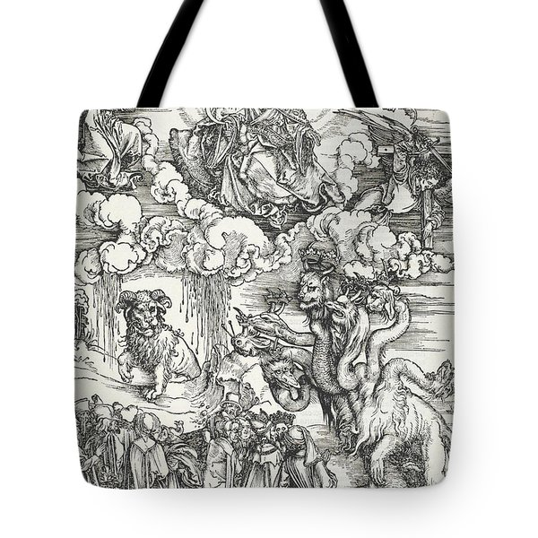 The Seven-headed Beast And The Beast With Lamb's Horns Tote Bag