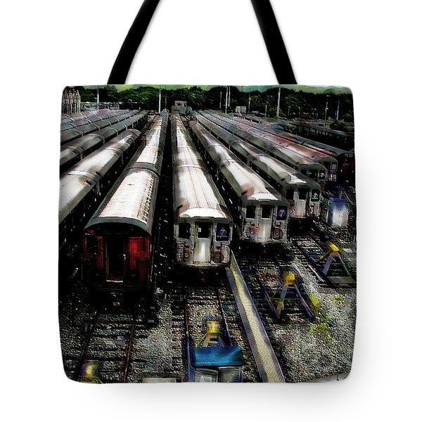The Seven Train Yard Queens Ny Tote Bag by Iowan Stone-Flowers