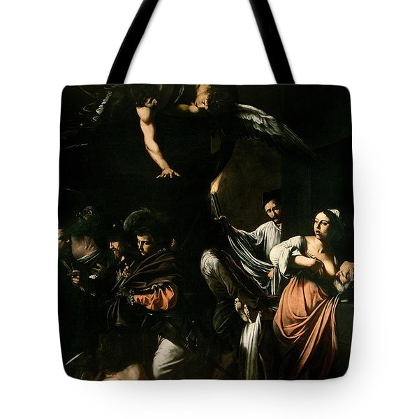 The Seven Works Of Mercy Tote Bag by Caravaggio