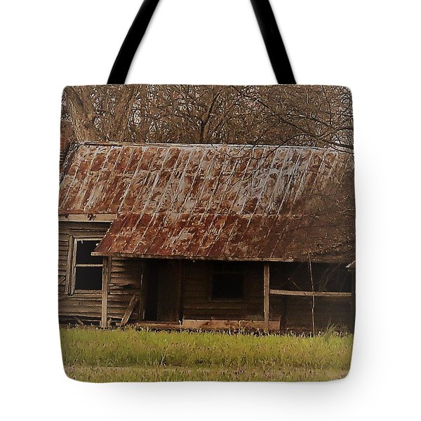 Tote Bag featuring the photograph The Shack by Aaron Martens