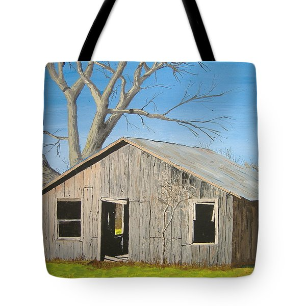 Tote Bag featuring the painting The Shack by Norm Starks