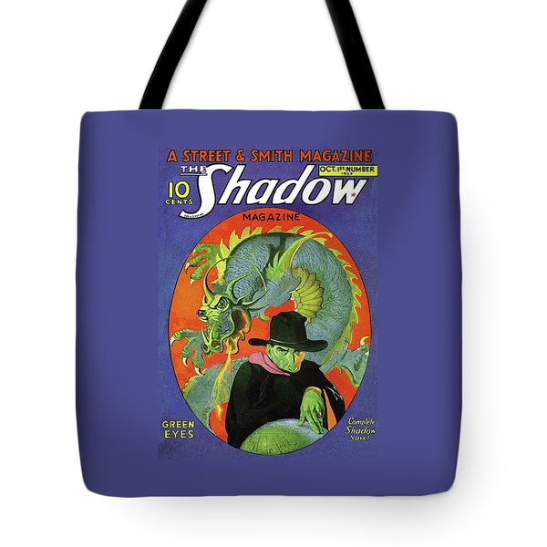 The Shadow Green Eyes Tote Bag