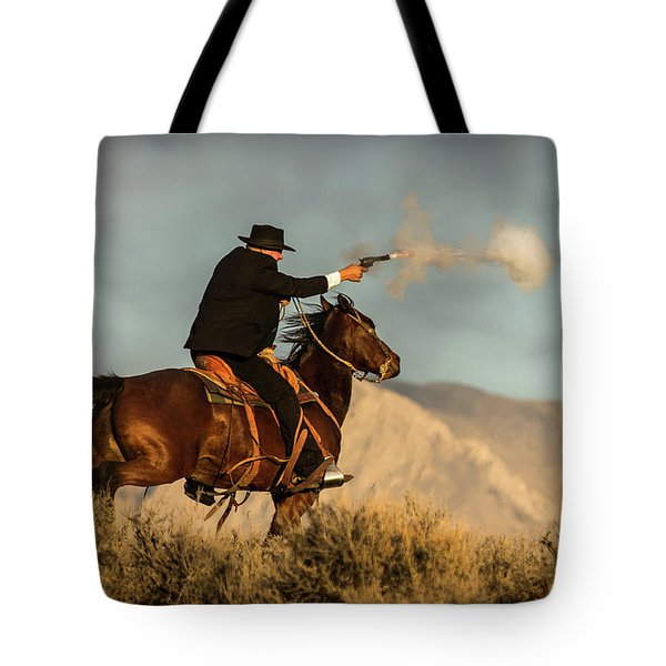 The Sharp Shooter Western Art By Kaylyn Franks Tote Bag