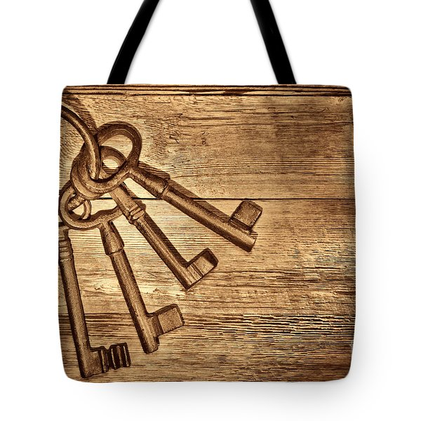 The Sheriff Jail Keys Tote Bag by American West Legend By Olivier Le Queinec