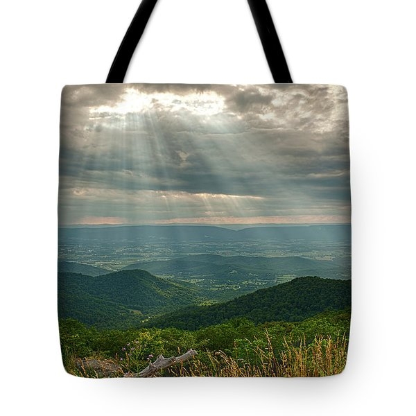 The Shining Valley Tote Bag