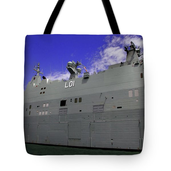 The Ship Is Huge Tote Bag