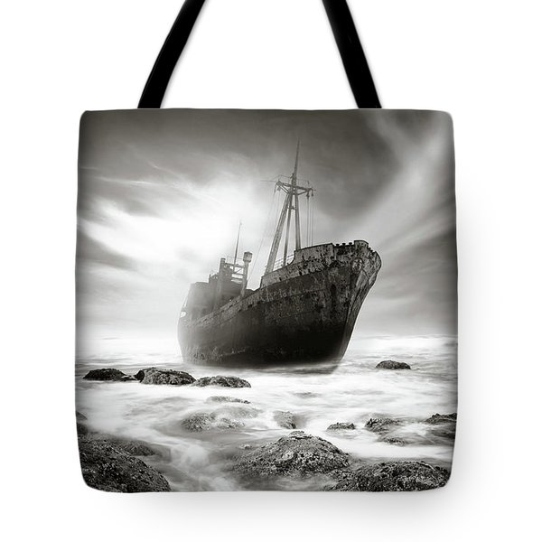 The Shipwreck Tote Bag by Marius Sipa