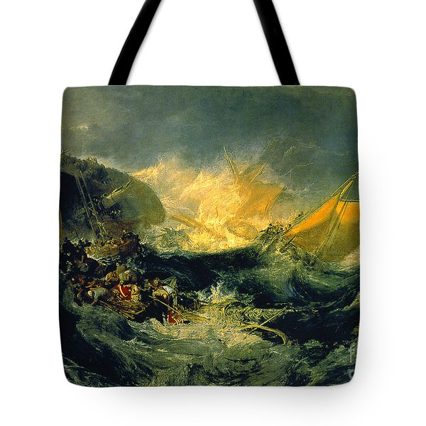 The Shipwreck Of The Minotaur Tote Bag by MotionAge Designs