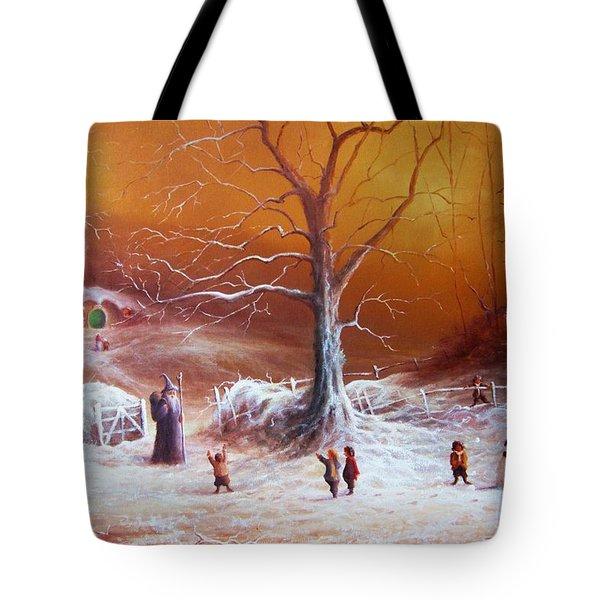 The Shire First Snowfall Tote Bag by Joe Gilronan