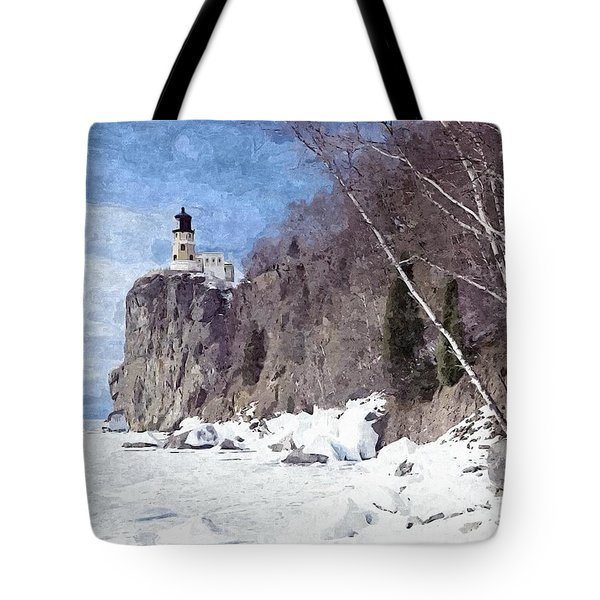 The Shoreline Lighthouse Tote Bag