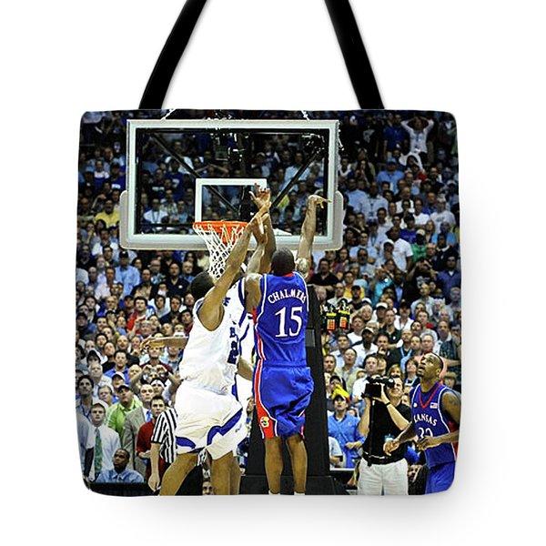 The Shot, 3.1 Seconds, Mario Chalmers Magic, Kansas Basketball 2008 Ncaa Championship Tote Bag