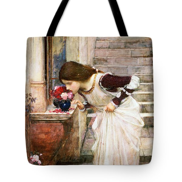 The Shrine Tote Bag by John William Waterhouse