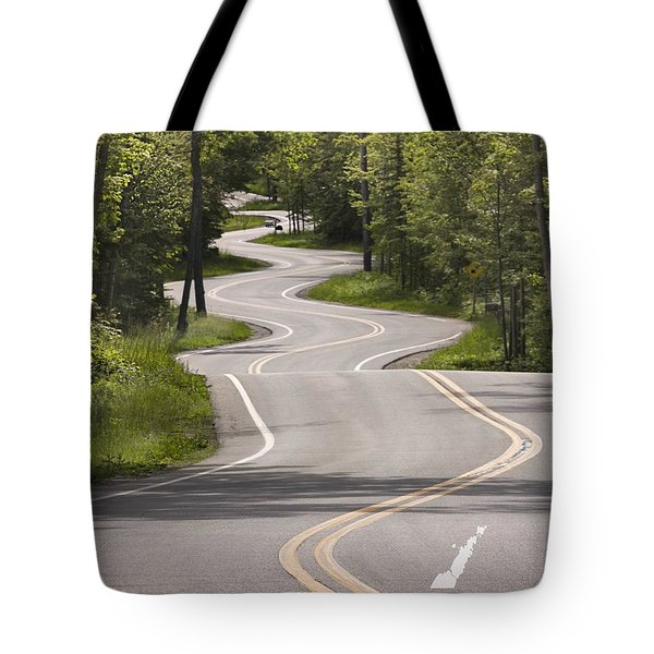 Tote Bag featuring the photograph The Signature Road by Barbara Smith