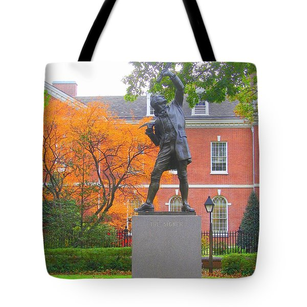 The Signer Tote Bag by J R Seymour