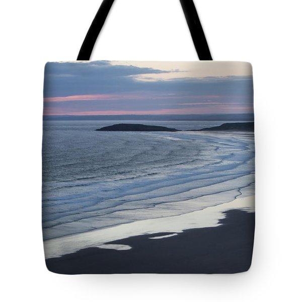 The Silver Sea Tote Bag