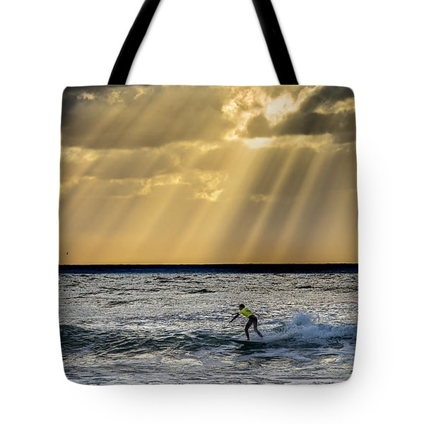 The Silver Surfer Tote Bag by Peter Tellone