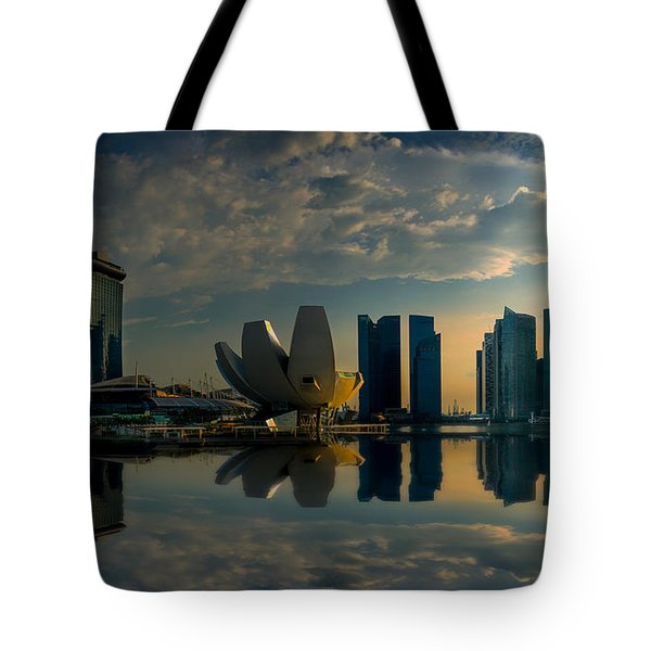 The Singapore Skyline Tote Bag
