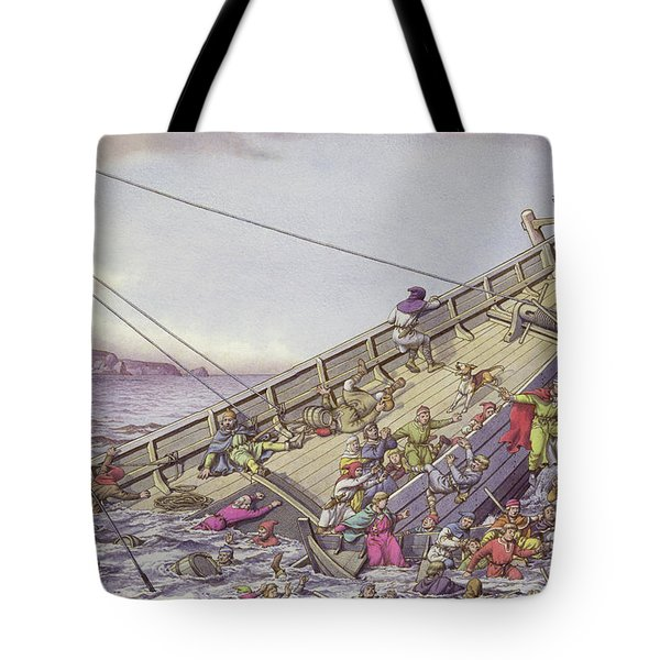 The Sinking Of The White Ship Tote Bag
