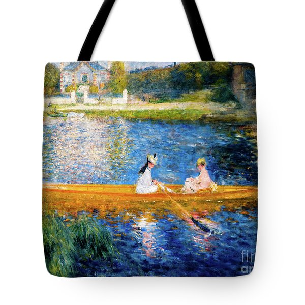 Renoir Boating On The Seine Tote Bag