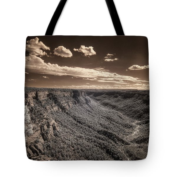 The Sky Tilts Down To The Canyon Tote Bag
